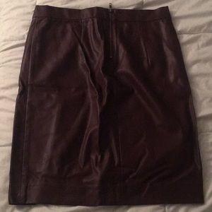 Forever 21 Burgundy leather skirt